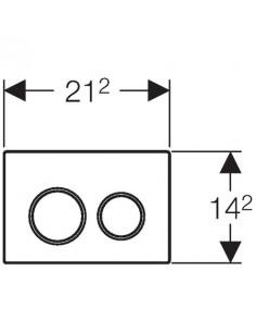 Przycisk uruchamiający Geberit Omega20, przedni/górny, chrom bł-chrom mat-chrom bł. 115.085.KH.1