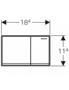 Przycisk uruchamiający Geberit Omega60, przedni, chrom szczotk. 115.081.GH.1