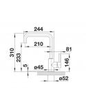 Bateria BLANCO MILI SILGRANIT-LOOK ANTRACYT 523103