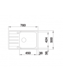 Zlewozmywak BLANCO LEMIS XL 6 S-IF COMPACT STAL SZCZOTKOWANA, ODWRACALNY, KOREK AUTO. 525110