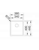 Komora BLANCO CLARON 340-U STAL DURINOX, INFINO 523384