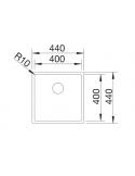 Zlewozmywak BLANCO CLARON 400-IF STAL DURINOX, INFINO 523389