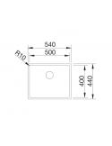 Zlewozmywak BLANCO CLARON 500-IF STAL DURINOX, INFINO 523390