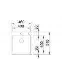 Zlewozmywak BLANCO CLARON 400-IF/A STAL DURINOX, KOREK AUTO., INFINO, PUSHCONTROL 523392