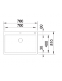 Zlewozmywak BLANCO CLARON 700-IF/A STAL DURINOX, KOREK AUTO., INFINO, PUSHCONTROL 523394