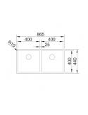 Zlewozmywak BLANCO CLARON 400/400-U STAL DURINOX, INFINO 525016