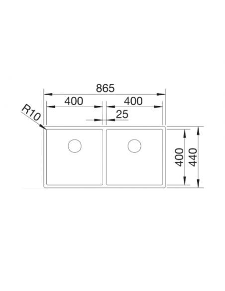 Zlewozmywak BLANCO CLARON 400/400-IF STAL DURINOX, INFINO 525017