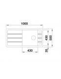 Zlewozmywak BLANCO FARON XL 6 S SILGRANIT PURADUR ALUMETALIK ODWRACALNY, INFINO 524805