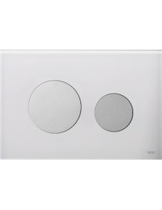 Przycisk spłukujący Tece Loop do WC szkło białe/biel 9240650