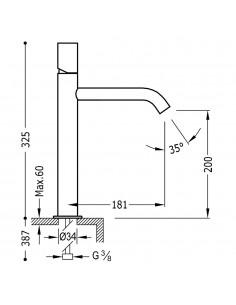 Tres Study-Tres bateria umywalkowa chrom 26130701