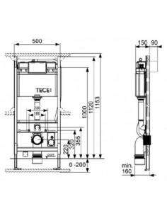 Tece Profil stelaż podtynkowy do WC 9300000