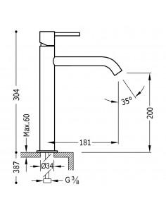 Tres Study Exclusive bateria umywalkowa czarny mat 26230701NMD