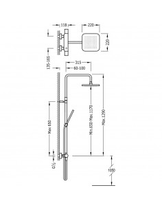 Tres Loft Colors zestaw prysznicowy z baterią termostatyczną bursztynowy/chrom 20019501AM