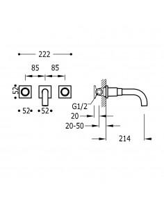 Tres Project bateria kuchenna podtynkowa czarny mat 21115201NM