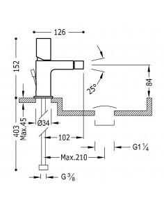Tres Project bateria bidetowa czarny mat 21112002NMD