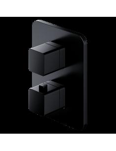 Bateria wannowa termostatyczna Omnires Parma Solo czarny mat PM7436BL