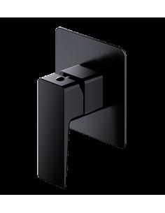 Bateria natryskowa podtynkowa Omnires Parma czarny mat PM7445BL