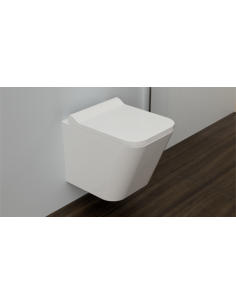 Miska wisząca WC bezrantowa Omnires Fontana 48,5 x 34,5 x 35,5 cm FONTANAMWBP