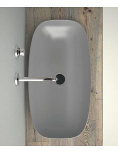 Umywalka nablatowa Catalano COLORI 80x40 cm Cemento Satinato 180APGRLXCS