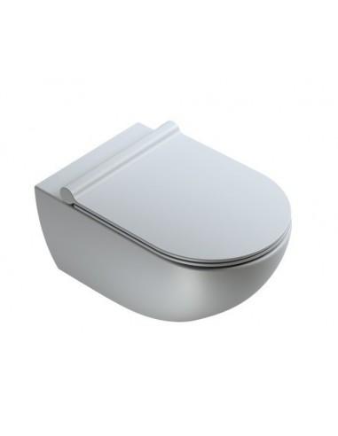 Miska WC wisząca bezrantowa Catalano Colori 54x35 cm +deska wolnoopadająca Cemento Satinato 1VSF54RCS, 5SCSTPCS