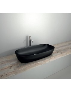 Umywalka nablatowa Catalano COLORI 80x40 cm nero satinato180APGRLXNS