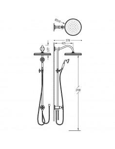 Tres Monoclasic zestaw prysznicowy ścienny stal 24247601AC