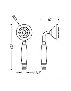 Tres Monoclasic słuchawka prysznicowa stal 29963109AC