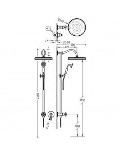 Tres Monoclasic zestaw prysznicowy z baterią podtynkową stal 24217703AC