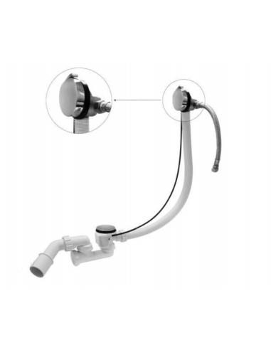 Syfon wannowy z napełnianiem przez przelew McAlpine HCN3100CB1M-15MM