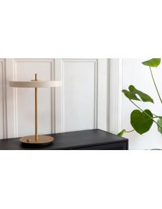 LAMPA STOŁOWA ASTERIA, Ø31 CM PEARL WHITE, UMAGE 2305