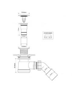 Syfon brodzikowy klik klak fi 50 McAlpine HC26CLCP