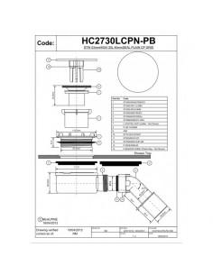 Syfon brodzikowy niski,czyszczony od góry fi 90 McAlpine HC2730LCPN-PB