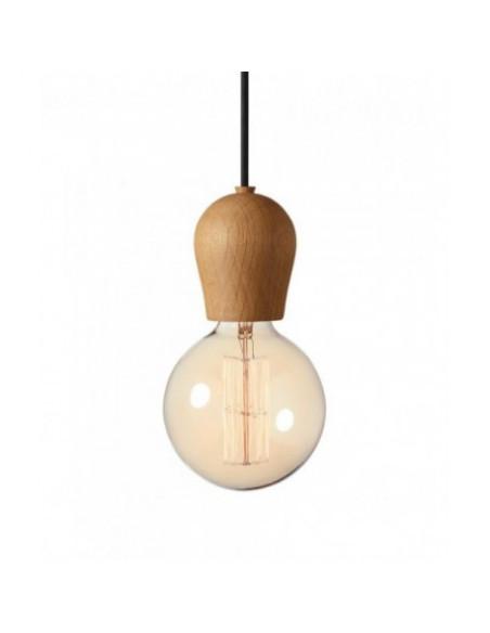 LAMPA BRIGHT SPROUT NORDIC TALES - DĄB OLEJOWANY + CZARNY PRZEWÓD 110102+310103