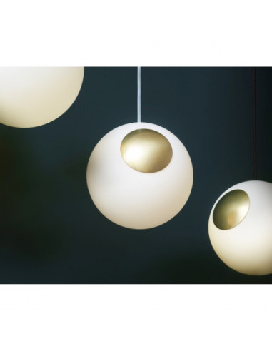 LAMPA BRIGHT SPOT BRASS NORDIC TALES - MOSIĄDZ + PRZEWÓD CREMA 110701