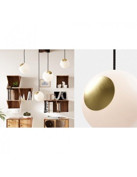 LAMPA BRIGHT SPOT BRASS NORDIC TALES - MOSIĄDZ + CZARNY PRZEWÓD 110702