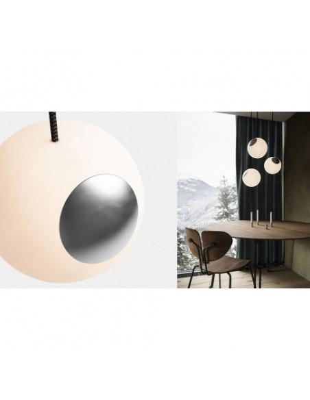 LAMPA BRIGHT SPOT CHROME NORDIC TALES - ALUMINIUM + PRZEWÓD CZARNY 110704