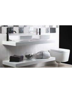 BAGNODESIGN RELAX UMYWALKA STAWIANA NA BLAT 40X40 CM BAGNOTEC WHITE BIAŁY BDS-REL-400-WH