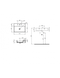 Umywalka nablatowa Mezzanine biały BDS-MEZ-716-WH
