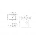 Umywalka nablatowa / wisząca, 61x46 cm Mezzanine biały BDS-MEZ-736-WH