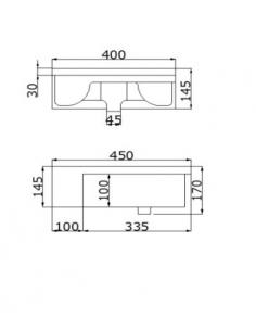 Umywalka półblatowa Malmo BDS-MAL-114711-A-WH