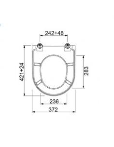 Deska i pokrywa WC wolnoopadająca BDS-URB-701024-B-WH