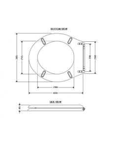 Deska i pokrywa biała BDS-RET-701020-A-WH