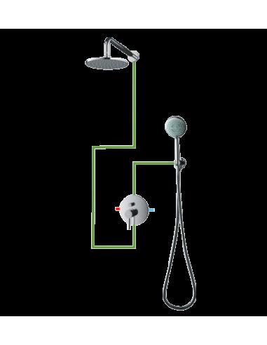 Kompletny łazienkowy system Omnires Y podtynkowy, chrom SYS Y21