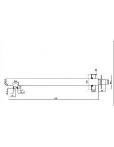 Ramię ścienne słoniowe 40 cm Omnires chrom RA02 X