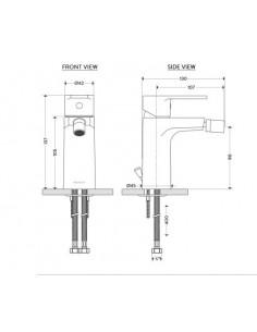 Bateria bidetowa z korkiem automat. chrom Envoy AQE-ENV-310-CP