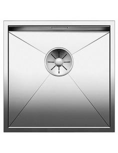 Zlewozmywak stalowy jednokomorowy 44x44 cm podwieszany Blanco Zerox 400-U bez korka automatycznego, stalowy 521585