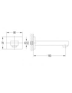 Wylewka 18,5 cm Omnires WD11