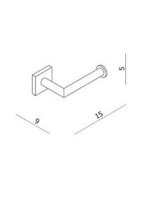 Uchwyt na papier toaletowy, bez klapki chrom Corsair BDA-COR-512-A-CP