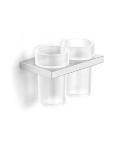 Uchwyt z dwoma szklankami 15,5 cm x 9,5 cm x 12 cm Stella New York 05.412