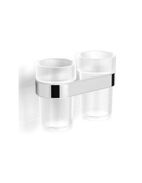 Uchwyt z dwoma szklankami 17 cm x 10 cm x 12 cm Stella Soul 06.412